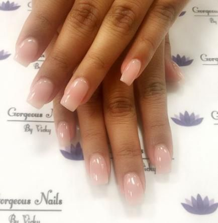 Nails Acrylic Neutral Square 40 Ideas With Images Short