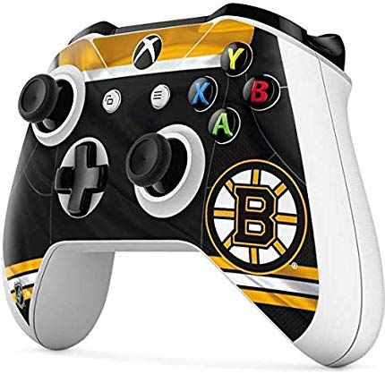 Skinit Boston Bruins Home Jersey Xbox One S Controller Skin Officially Licensed Nhl Gaming Decal Ultra Thin Lightweight Vinyl Decal Protection Boston Bryuinz