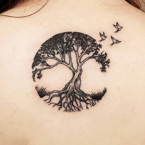 Tree Tattoo - Tree of Life for Rachel's first tattoo. #tattoo #blackwork #linetattoo #linework #tattoodesign #blackart #blacktattoo #blackworkers… - TattooViral.com | Your Number One source for daily Tattoo designs, Ideas & Inspiration