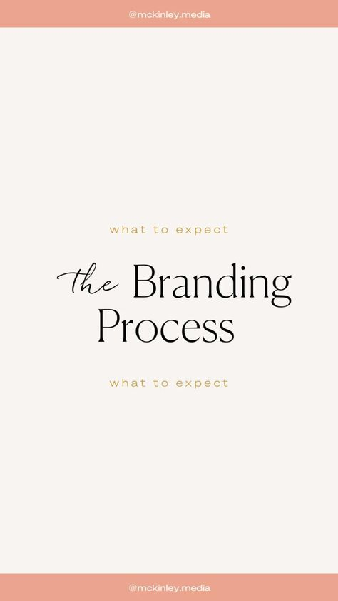 What to expect during the branding process. Hint: save for later!