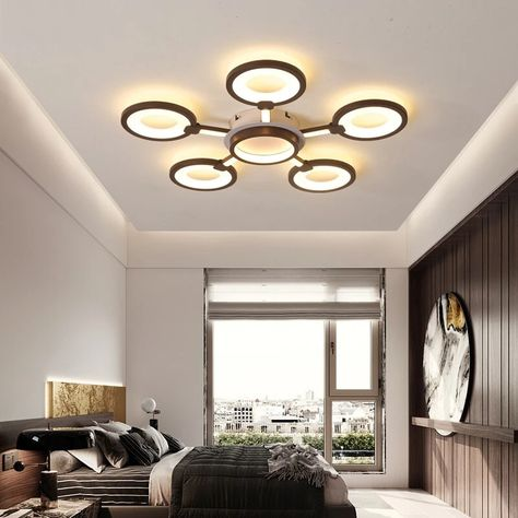 Led Ceiling Lights Living Room Modern Lamp Remote Control Dimming Light Fixture Bedroom Restaurant Dining Room Home Lighting Bedroom Light Fixtures Living Room Modern Ceiling Lights