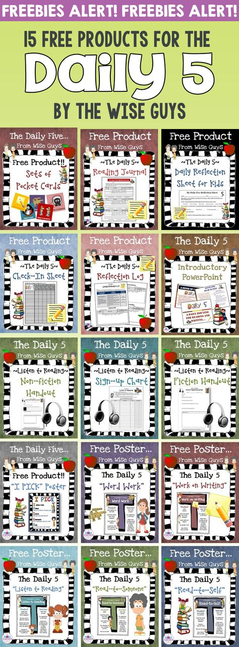 Daily 5 Resources for Intermediate Grades - Wise Guys Here are 15 FREE Daily 5 Resources to use in your classroom with your intermediate grades students.Here are 15 FREE Daily 5 Resources to use in your classroom with your intermediate grades students. Daily 5 Reading, 5th Grade Reading, Teaching Reading, Guided Reading, Close Reading, Home Reading Log, Guided Math, Daily Five Cafe, Daily 3