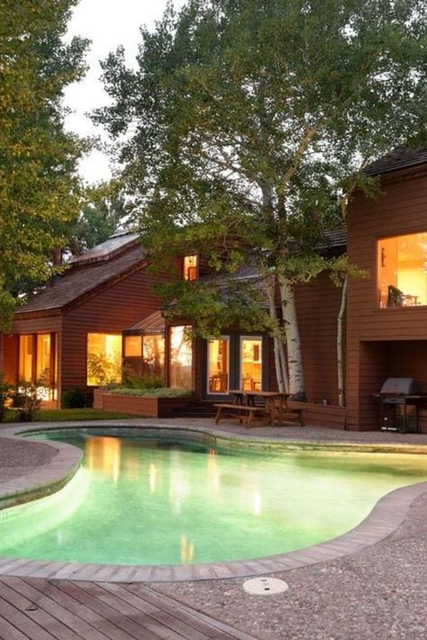 John Denver S Mountain Home In Aspen Co Listed For 10 75 Million Swimming Pools Swimming Pools Backyard Swimming Pool Designs