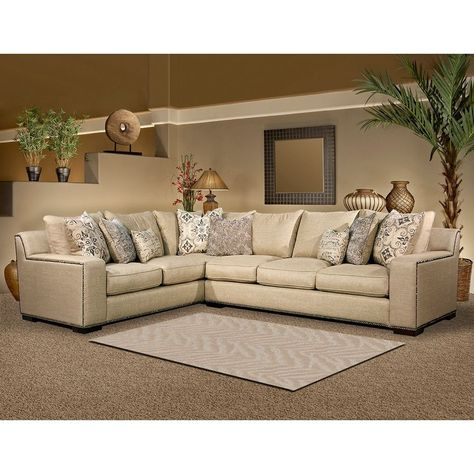 Pleasant Fairmont Designs Made To Order Adele Two Piece Sectional Set Ncnpc Chair Design For Home Ncnpcorg