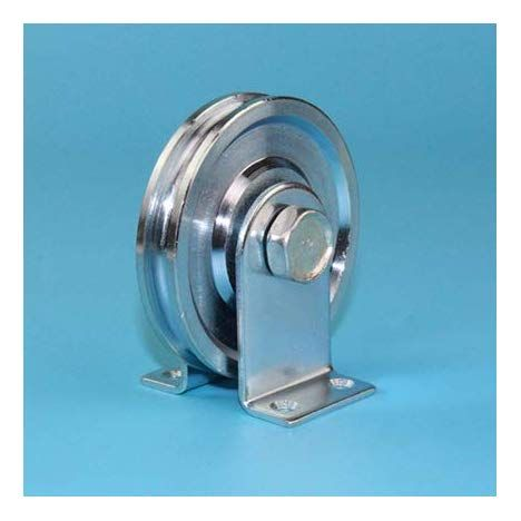 Gold Happy Sliding Steel Rope Rollers Pulleys Wheels With 6001rs Bearing Deep U Groove Diameter In 2020 Pulley Steel Roller Doors