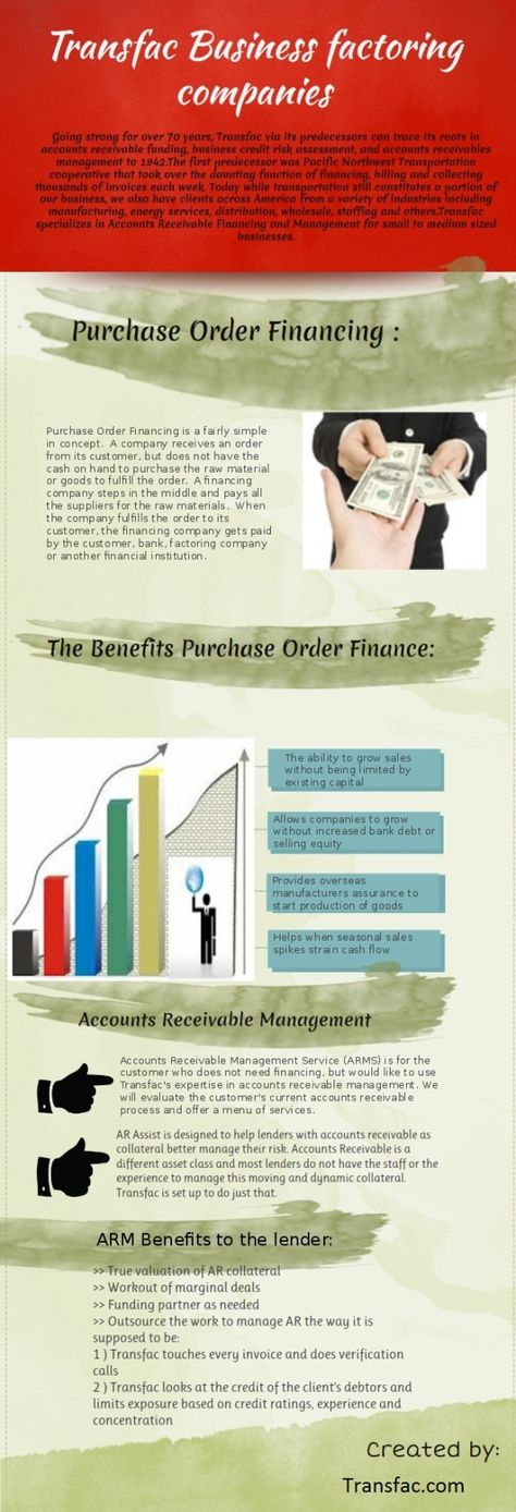 Business Factoring Infographic Business Infographics Pinterest - generic purchase order