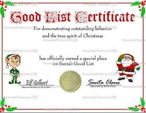 Christmas nice list certificate free printable nice list christmas nice list certificate free printable nice list certificate and santa yadclub Gallery