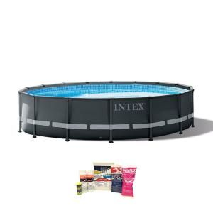 Intex 16 Ft X 48 In Ultra Xtr Frame Above Ground Pool With Pump And Cleaning Kit 26325eh Qlc 42003 The Home Depot In Ground Pools Above Ground Pool Swimming Pools