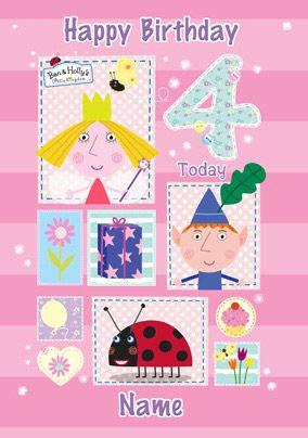 Ben Holly Birthday Card 4th Birthday Birthday Cards Cards Girl Birthday Cards