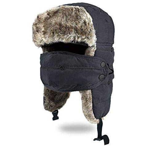 Fliegerm/ütze Schlittschuhlaufen und Anderen Outdoor-Aktivit/äten Kunstfellm/ütze BROTOU Unisex Winterm/ütze mit Ohrenklappen Trapperm/ütze; h/ält warm beim Skifahren