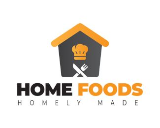 Creative Home Foods Logo Design Template Buy Now Fully Editable And Scalable Vector Files Typographic Logo Design Bakery Logo Design Food Logo Design