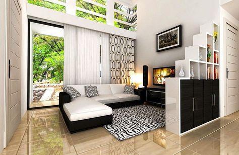 ruang tamu sederhana minimalis (langkah hemat biaya
