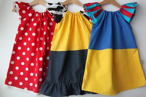 Smashed Peas and Carrots: Dress up clothes--Minnie Mouse, Jessie from Toy Story, and Snow White