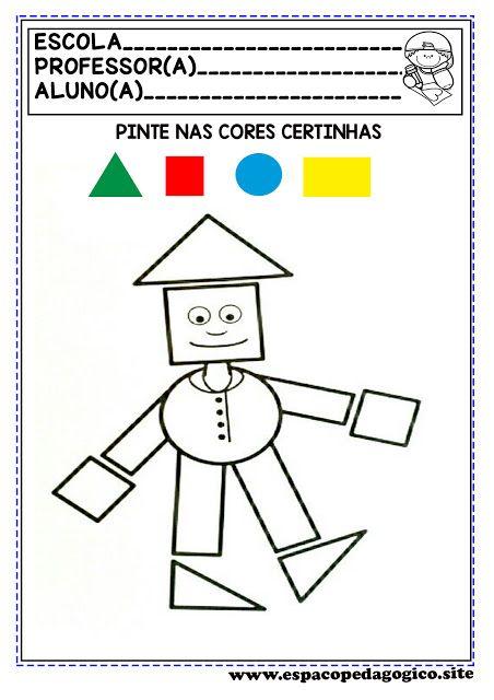Espaco Pedagogico Atividades Com Figuras Ou Formas Geometricas Par Formas Geometricas Educacao Infantil Educacao Infantil Atividade Alfabeto Educacao Infantil