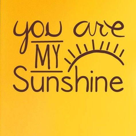 You Are My Sunshine Wall Sticker Cut It Out Wall Stickers Size: Large, Colour: Bright Yellow