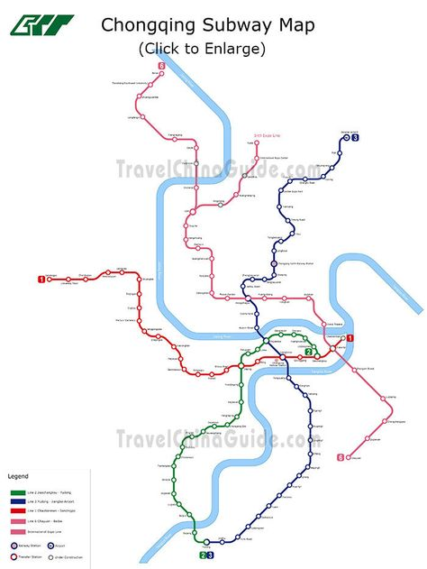 Chongqing light rail planning map Chongqing China Maggies 22