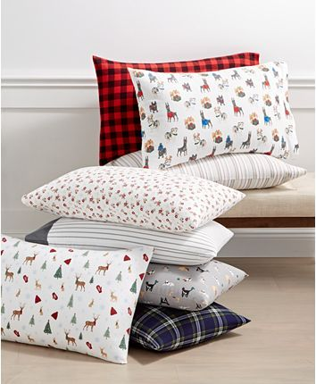 Martha Stewart Collection Printed Cotton Flannel 3 Pc Twin Sheet Set Created For Macy S Reviews Sheets Pillowcases Bed Bath Macy S In 2020 Sheet Sets Queen Mattress Furniture Sofa Throw Pillows