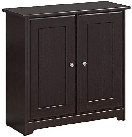 Cabot Two Door Low Storage Cabinet 31 37 Quot W X 12 4 Quot D X 30 19 Quot H Espresso Oak Finish Small Storage Cabinet Tall Cabinet Storage Small Storage Small storage cabinet with doors