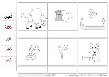 حرف الثاء Alphabet Worksheets Arabic Alphabet Free Printables