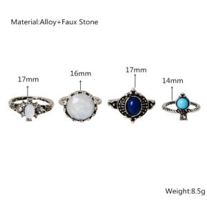 Aphrodite 4 pcs Rings set - Aphrodite Store Click here for more ring sets  and other jewellery :) #jewellery #Jewelry #Necklace #rings #earrings #clothes #fashion #style #silverjewellery #kleding #sieraden #sieraad