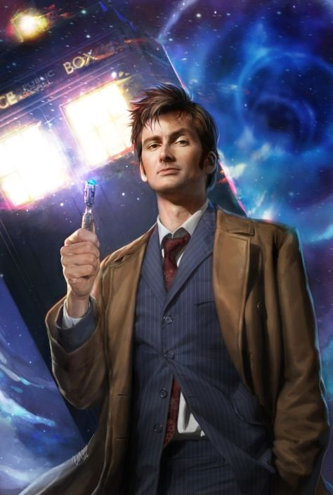 I was able to paint another cover for Doctor Who, The Tenth Doctor Adventures, Year Three, issue for Titan Comics! featuring David Tennant Doctor Who, the Doctor issue Doctor Who Poster, Doctor Who Fan Art, Doctor Who Tardis, Undécimo Doctor, Doctor Who Amy Pond, Doctor Who Dalek, Doctor Who Funny, Doctor Who Tumblr, Eleventh Doctor