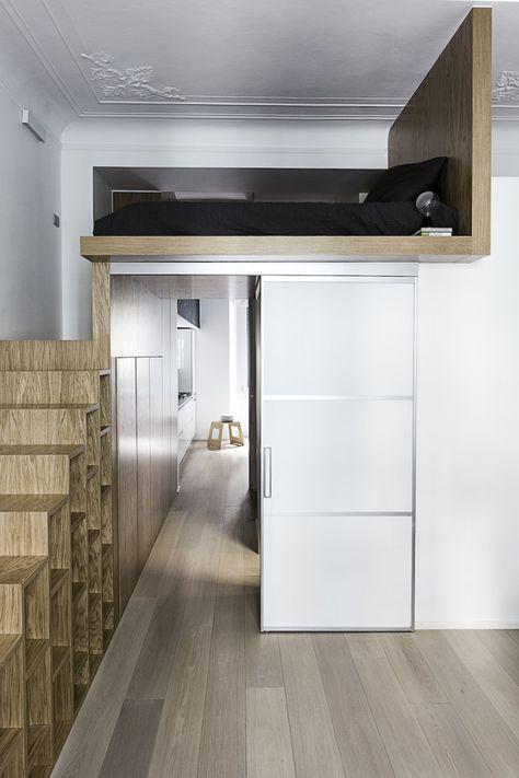 40 M2 Pour Un Couple Avec Un Bebe Petit Appartement Appartement Amenagement Petit Espace