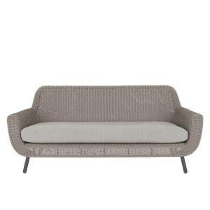 Jonah 3 Sitzer Gartensofa Hellgrau Seater Sofa Rattan Garden Furniture 3 Seater Sofa