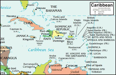 Caribbean Countries Map.12 Caribbean Maps You Need To See ... on