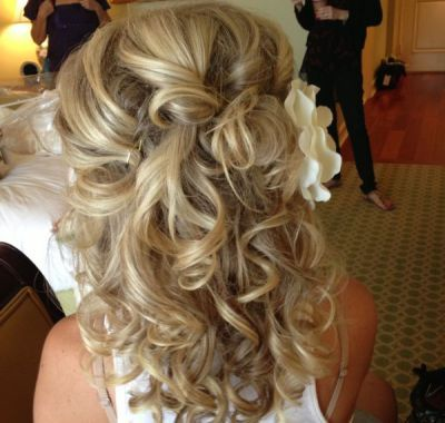 Shoulder Length Wedding Hairstyles Down Ideas For Me Pinterest Medium Hairs And Curly