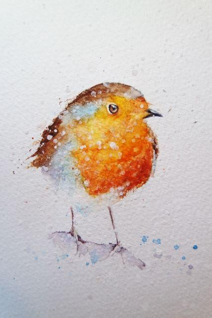 How To Paint A Robin In 8 Easy Steps In 2020 Watercolor Art