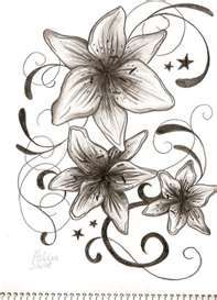 Stargazer Lilly tattoo