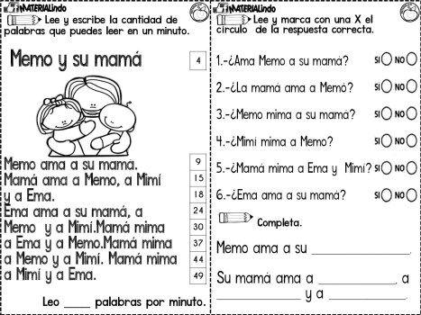 Lectoescritura 90 Fichas Completa Leo Y Escribo Las Silabas Orientacion Andujar Lectura De Comprension Leer Y Escribir Lectura Y Escritura