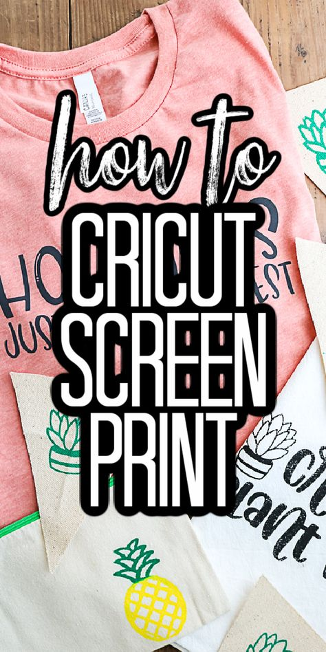 Cricut Screen Print with Vinyl