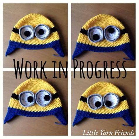 Crochet Pattern: Minion Beanie   Children: Hats & Scarves -Free ...