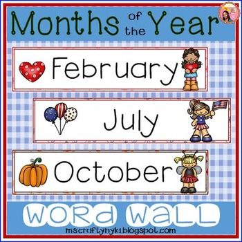 Months of the Year Word Wall | Teaching Printables, Games and ...
