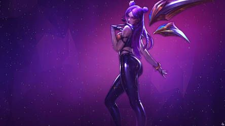 Kda Kaisa Wallpaper By Imshadowwife Wallpaper Art Humanoid Sketch