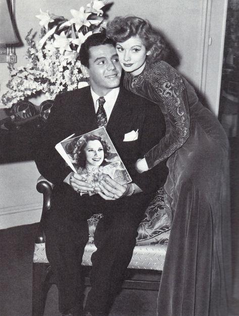 "welovelucille: "" Lucille Ball and Desi Arnaz in 1940 """