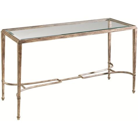 Artistica Sangiovese Rectangular Glass Top Console Table With