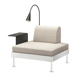 Delaktig Armchair With Side Table And Lamp Gunnared Medium Gray Ikea Ikea Furniture Armchair