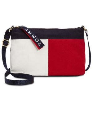 Tommy Hilfiger Colorblock Flag Crossbody Small Handbag Bag