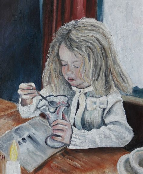Ava Eating Ice Cream Painting Eating Ice Eating Ice