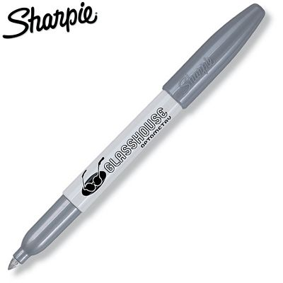 Promotional Sharpie Metallic Silver Permanent Marker | Customized Permanent Markers | Promotional Sharpie Pens