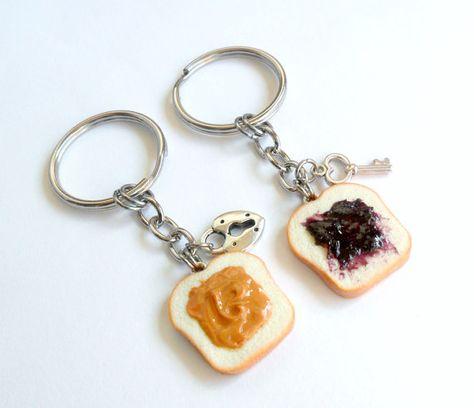 Cute D Peanut Butter Bread Keychain
