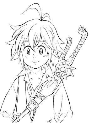 Meliodas Nanatsu No Taizai Para Colorear E Imprimir Colorear Anime Dibujos De Anime Anime Facil De Dibujar