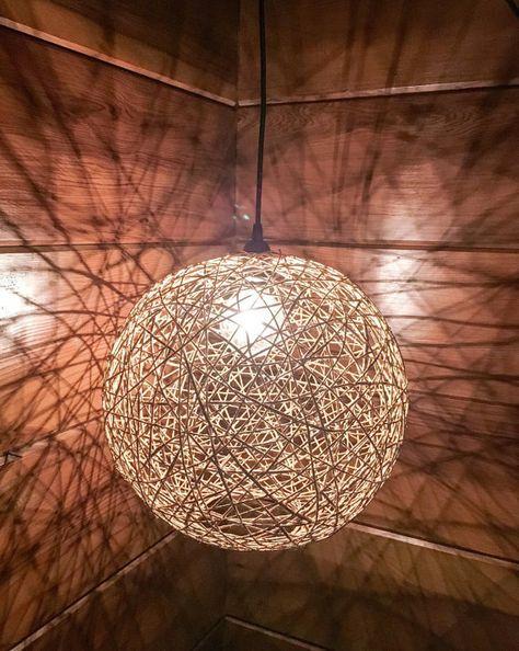 Modern Bohemian Hemp Light Large by HoboBoutique on Etsy