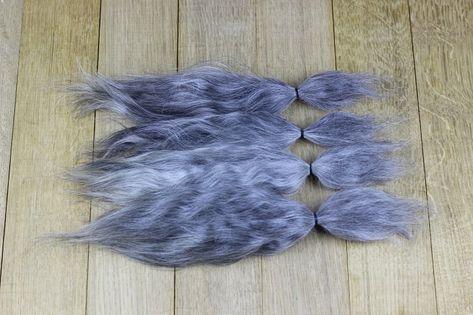 "Mohair Doll Hair color dark chocol 8-11/"" in 0.35 oz locks angora DIY baby reborn"