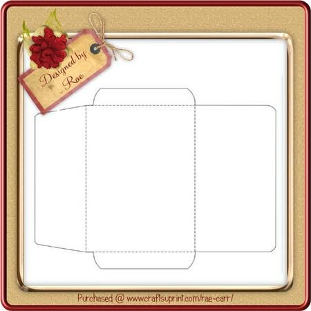 024 Quarter fold Envelope Template ScanNCut on Craftsuprint - a2 envelope template