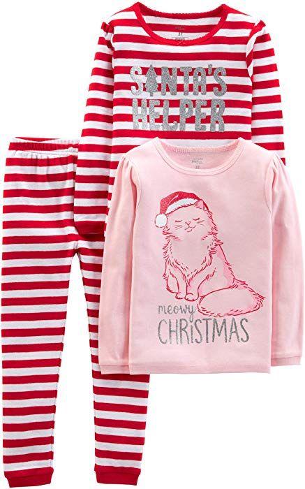 1e0fe8efe Amazon.com  Simple Joys by Carter s Girls  Little Kid 3-Piece Snug ...