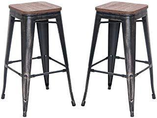 Amazon Com 30 Inch Bar Height Patio Stools Stools Bar Chairs