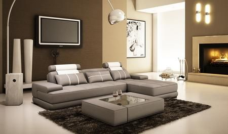 Vgev5005a Divani Casa 5005a Mini Modern Grey And White Bonded